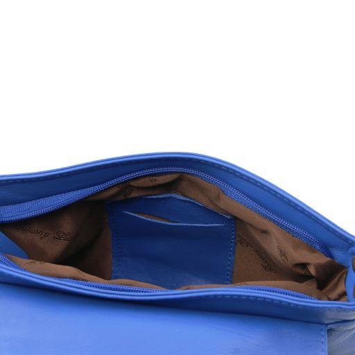 TL Bag Borsa morbida a tracolla con nappa Blu TL141393