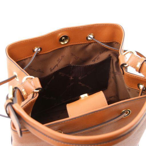 Borsa secchiello da donna in pelle Testa di Moro TL141438