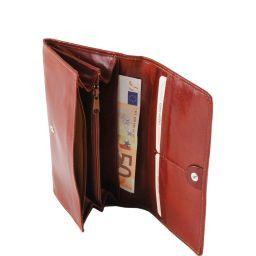 Exklusive Damenbrieftasche aus Leder Braun TL140787