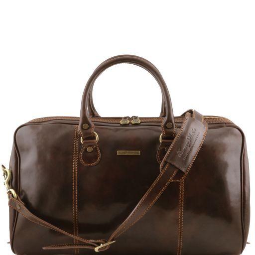 Paris Дорожная кожаная сумка-даффл Темно-коричневый TL1045