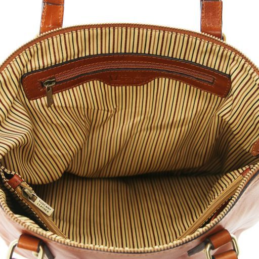 Olga Borsa shopping in pelle Miele TL141483