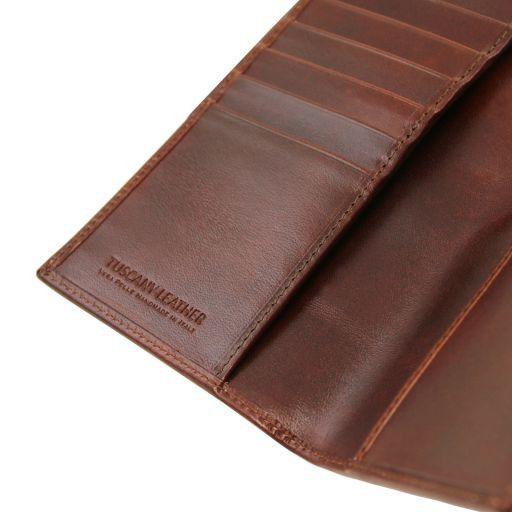 Esclusivo portafoglio/portacarte di credito verticale in pelle Testa di Moro TL141495