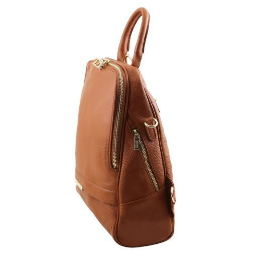 TL Bag Soft leather backpack for women Коньяк TL141509