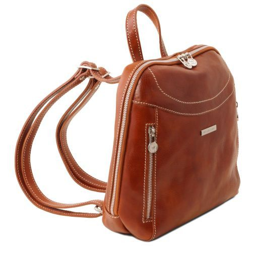 Manila Leather backpack Red TL141557