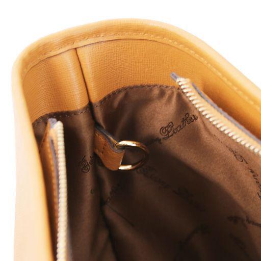 TL KeyLuck Borsa shopping TL SMART in pelle Saffiano con due manici Cognac TL141574
