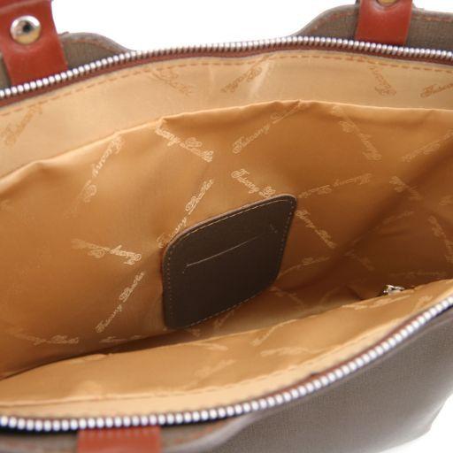 TL Bag Borsa a mano in pelle Saffiano Cognac TL141577