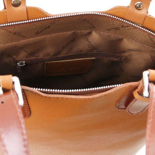 TL Bag Borsa a mano in pelle Saffiano Blu scuro TL141577