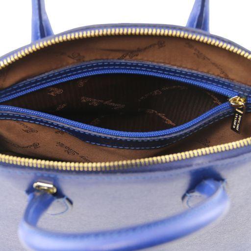 TL KeyLuck Borsa shopper in pelle Saffiano - Misura piccola Cognac TL141579