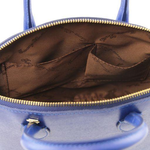 TL KeyLuck Borsa shopper in pelle Saffiano - Misura piccola Talpa scuro TL141579
