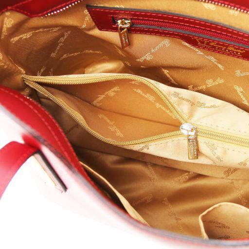Olimpia Borsa shopper in pelle - Misura piccola Giallo TL141591