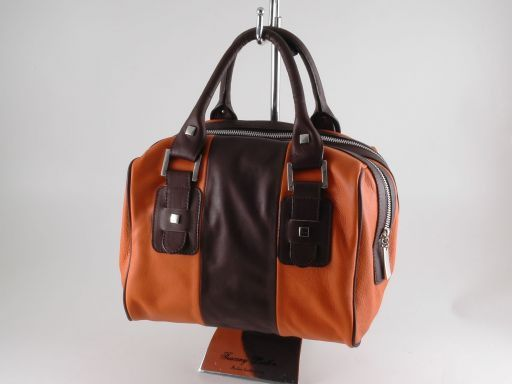 Asia Leather handbag Orange TL140822