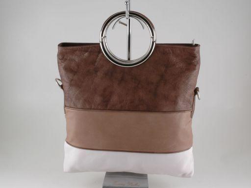 Lidia Handtasche aus Kalbsleder Hell Taupe TL140823