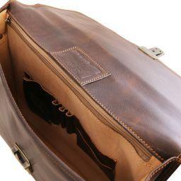 Amalfi Cartable en cuir avec 1 compartiment Noir TL10050