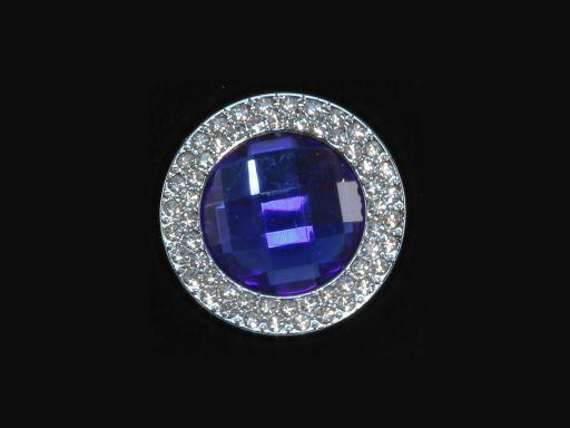 Portaborse da tavolo Rotondo Blu TL140869