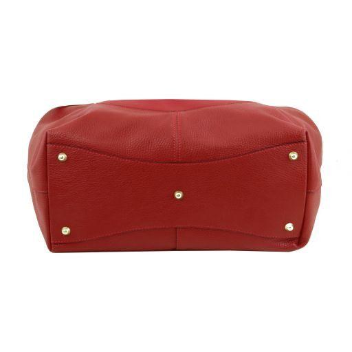 Cinzia Bolso shopping en piel suave Rojo TL141515