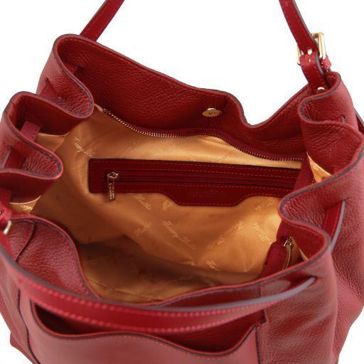 Cinzia Sac shopping en cuir souple Rouge TL141515