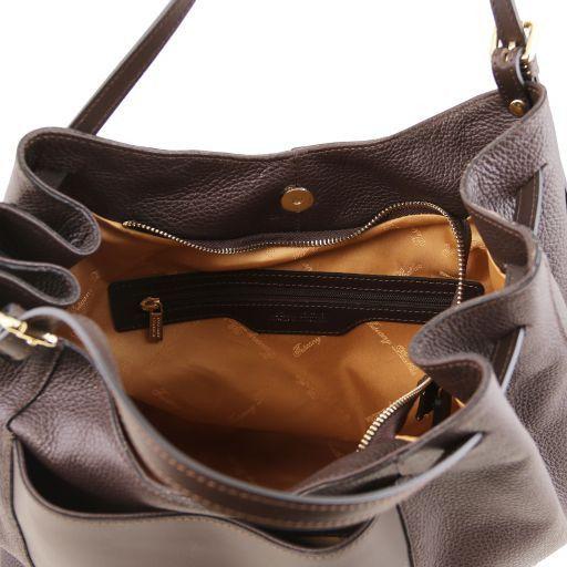 Cinzia Borsa shopping in pelle morbida Testa di Moro TL141515