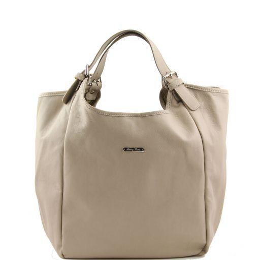 Gina Borsa shopping donna in pelle Talpa chiaro TL140886