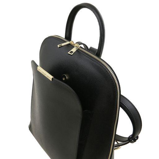 TL Bag Sac à dos pour femme en cuir Saffiano Noir TL141631