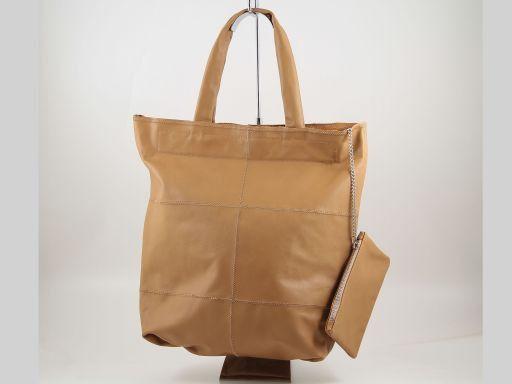 Ludovica Borsa Shopper in Nappa Patchwork Cognac TL140888