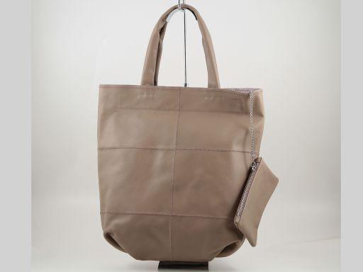 Ludovica Borsa Shopper in Nappa Patchwork Talpa scuro TL140888
