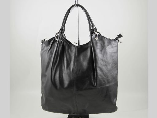 Nina Borsa Shopper in pelle nappata Nero TL140893