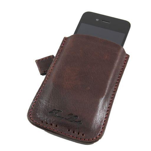 Esclusivo porta iPhone3 iPhone4/4s in pelle Testa di Moro TL140927