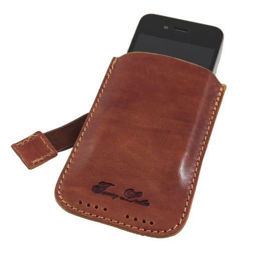 Esclusivo porta iPhone3 iPhone4/4s in pelle Miele TL140927