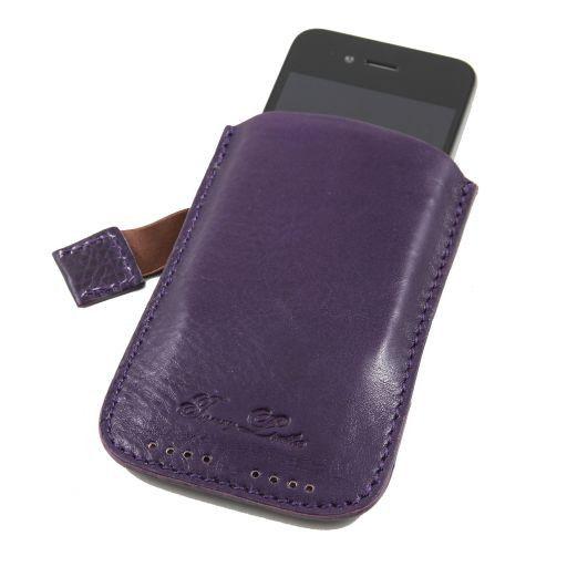 Porta iPhone3 iPhone4/4s en piel Violeta TL140927