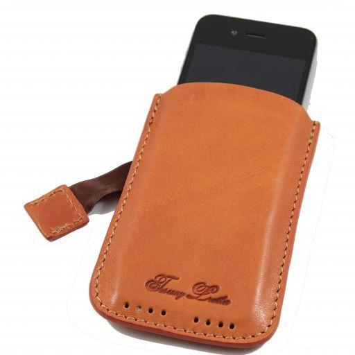 Esclusivo porta iPhone3 iPhone4/4s in pelle Arancio TL140927