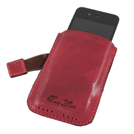 Esclusivo porta iPhone3 iPhone4/4s in pelle Rosso TL140927