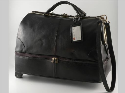 Santo Domingo Borsa-Trolley in pelle Nero TL1064