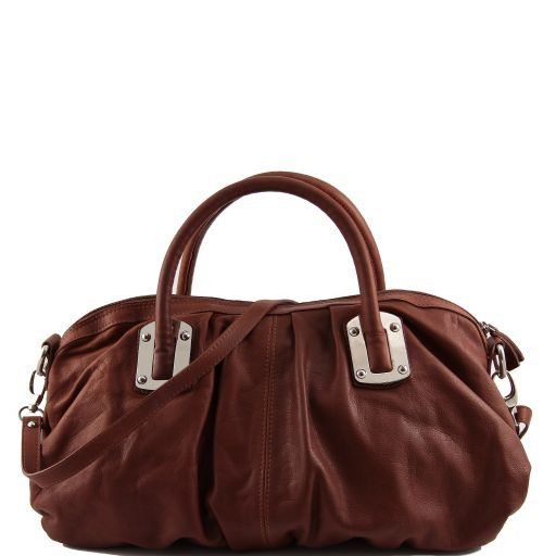 Nora Borsa bauletto in pelle Marrone TL140934