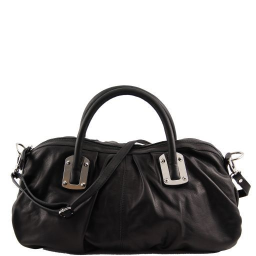 Nora Leather mini duffle for women Black TL140934