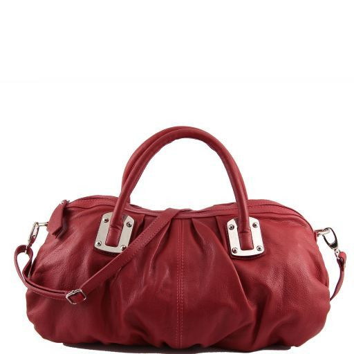 Nora Leather mini duffle for women Red TL140934
