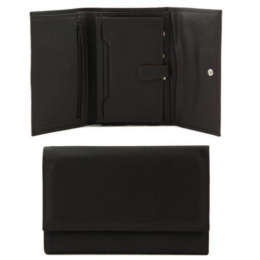 Esclusivo portafogli in pelle da donna nappata Testa di Moro TL140937