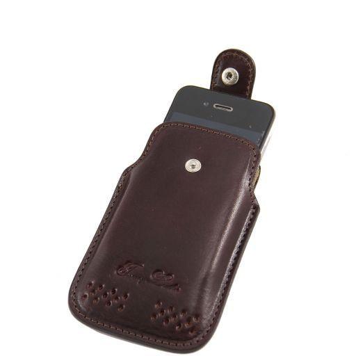 Esclusivo porta iPhone3 iPhone4/4s in pelle Testa di Moro TL140983