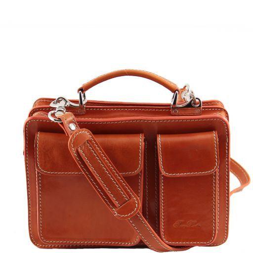 Tracy Leather lady handbag Orange TL140960