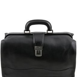 Raffaello Doctor leather bag Black TL10077