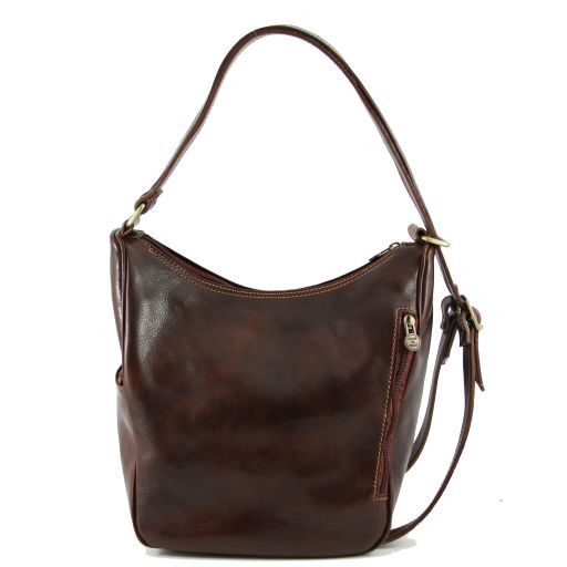Amy Borsa/zaino in pelle Marrone TL141021