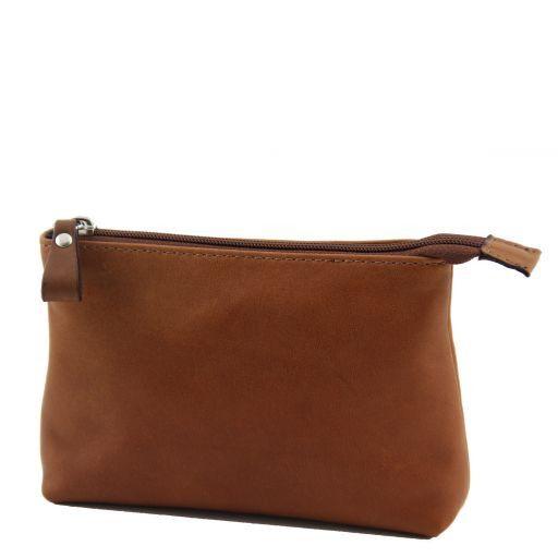 Mina Beauty case in pelle Cognac TL141036