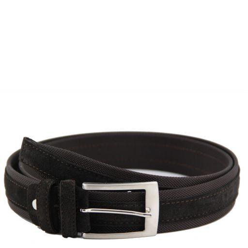 Cintura in tela e camoscio Testa di Moro TL141074