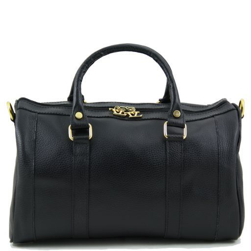 """TL Bag Sac à main en cuir """"Bauletto"""" Noir TL141079"""