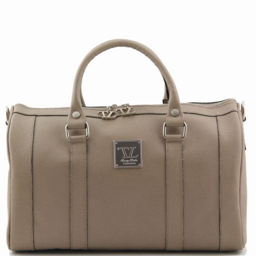 "TL Bag Sac à main en cuir ""Bauletto"" Taupe clair TL141079"