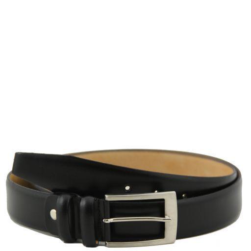 Cintura in pelle vitello spazzolato Nero TL141080