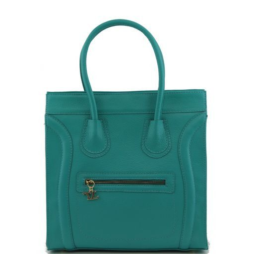 TL Bag Bolso en piel martillada Turquoise TL141090