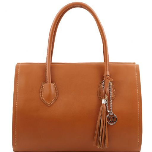 TL Bag Borsa morbida con nappa e tracolla Cognac TL141091