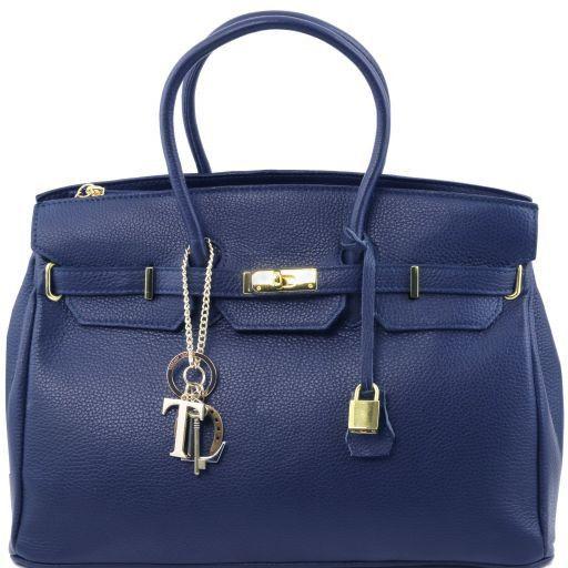 TL KeyLuck Borsa a mano media con accessori oro Blu scuro TL141092