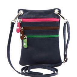 TL Bag Soft leather mini cross bag Dark Blue TL141094