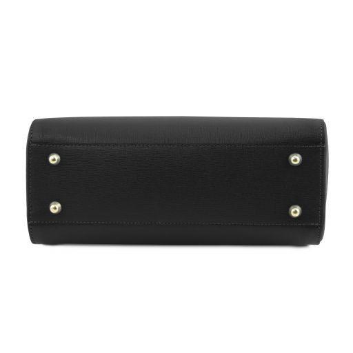 TL Bag Petite Sac bauletto en cuir Saffiano Noir TL141628
